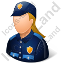 Police Officer Female Light Icon