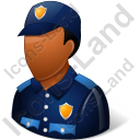 Police Officer Male Dark Icon, PNG/ICO, 128x128
