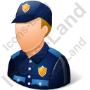 Police Officer Male Light Icon, PNG/ICO, 128x128
