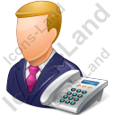 Secretary Male Light Icon