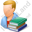 Student Male Light Icon