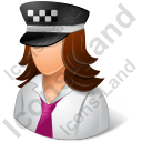 Taxi Driver Female Light Icon, PNG/ICO, 128x128