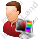 Web Designer Male Light Icon