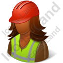 Worker Female Dark Icon, PNG/ICO, 128x128