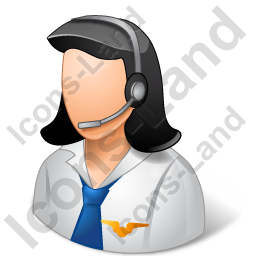 Air Traffic Controller Female Light Icon