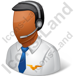 Air Traffic Controller Male Dark Icon