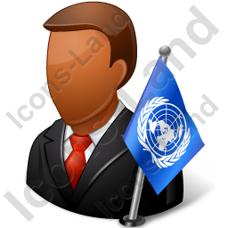 Ambassador Male Dark Icon, PNG/ICO, 256x256
