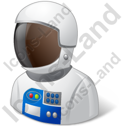 Astronaut Male Dark Icon