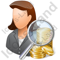Auditor Female Light Icon, PNG/ICO, 256x256