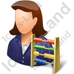 Bookkeeper Female Light Icon, PNG/ICO, 256x256
