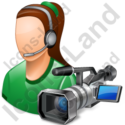 Cameraman Female Light Icon