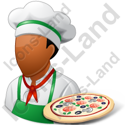 Chef Pizza Male Dark Icon