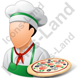 Chef Pizza Male Light Icon, PNG/ICO, 256x256