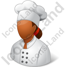 Chef Female Dark Icon, PNG/ICO, 256x256