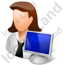Computer Administrator Female Light Icon, PNG/ICO, 256x256