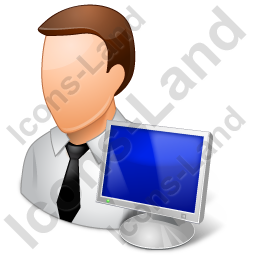 Computer Administrator Male Light Icon