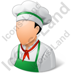 Cook Male Light Icon
