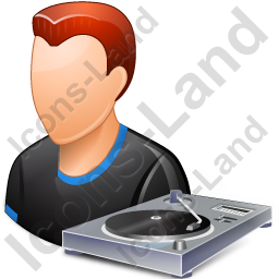 Disc Jockey Male Light Icon, PNG/ICO, 256x256