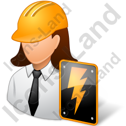 Electrical Engineer Female Light Icon