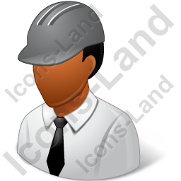 Engineer Male Dark Icon