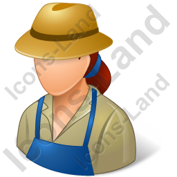 Farmer Female Light Icon, PNG/ICO, 256x256