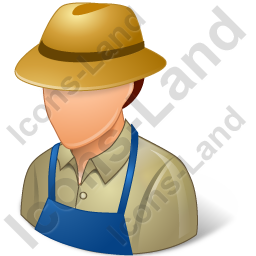 Farmer Male Light Icon, PNG/ICO, 256x256