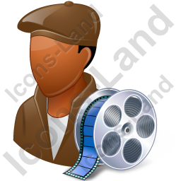 Film Maker Male Dark Icon, PNG/ICO, 256x256