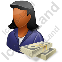 Financier Female Dark Icon, PNG/ICO, 256x256