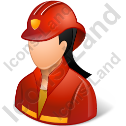 Firefighter Female Light Icon, PNG/ICO, 256x256