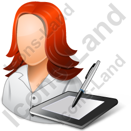 Graphic Designer Female Light Icon
