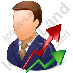 Investor Male Light Icon, PNG/ICO, 256x256