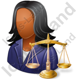 Lawyer Female Dark Icon, PNG/ICO, 256x256