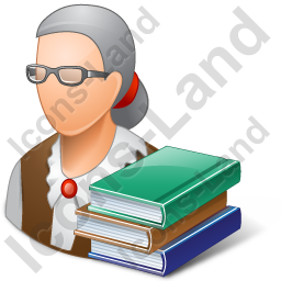 Librarian Female Light Icon
