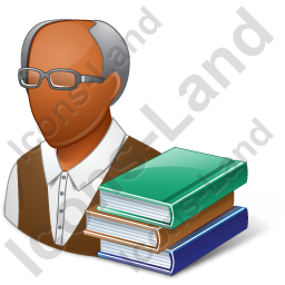 Librarian Male Dark Icon