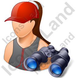 Lifeguard Binoculars Female Light Icon