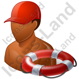 Lifeguard Lifebuoy Male Dark Icon