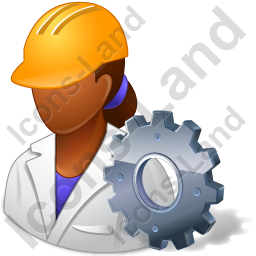Machine Operator Female Dark Icon, PNG/ICO, 256x256