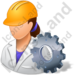 Machine Operator Female Light Icon