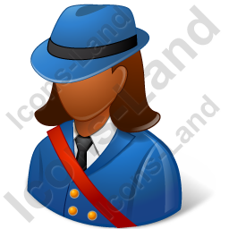 Mail Carrier Female Dark Icon, PNG/ICO, 256x256
