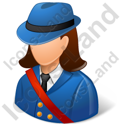 Mail Carrier Female Light Icon, PNG/ICO, 256x256