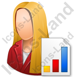 Marketer Female Light Icon