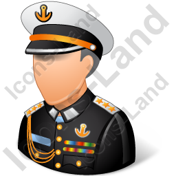 Naval Admiral Male Light Icon