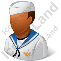 Naval Seaman Male Dark Icon