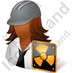 Nuclear Engineer Female Dark Icon, PNG/ICO, 256x256