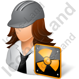 Nuclear Engineer Female Light Icon, PNG/ICO, 256x256