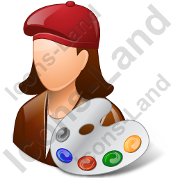 Painter Female Light Icon