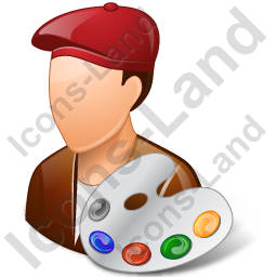 Painter Male Light Icon