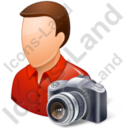 Photographer Male Light Icon