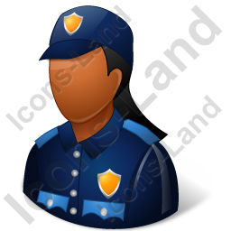 Police Officer Female Dark Icon, PNG/ICO, 256x256