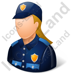 Police Officer Female Light Icon, PNG/ICO, 256x256